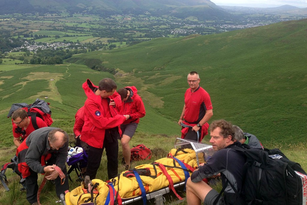 Rescuers at the scene on Stile End. Photo: Keswick MRT