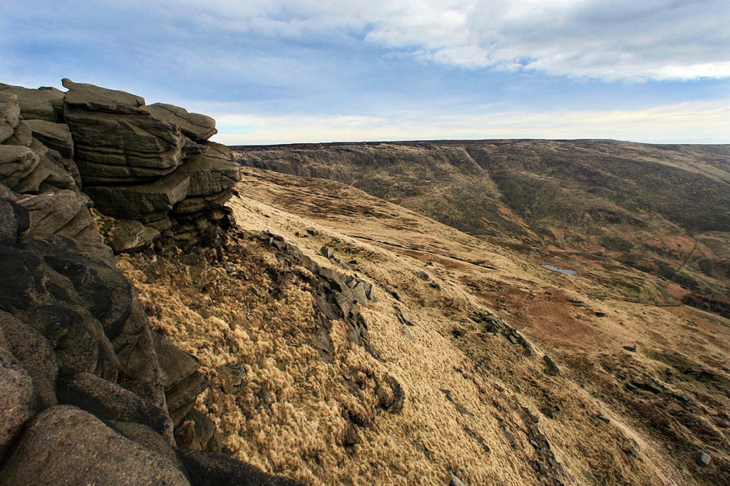 The groups got into difficulties on the summit of Kinder Scout