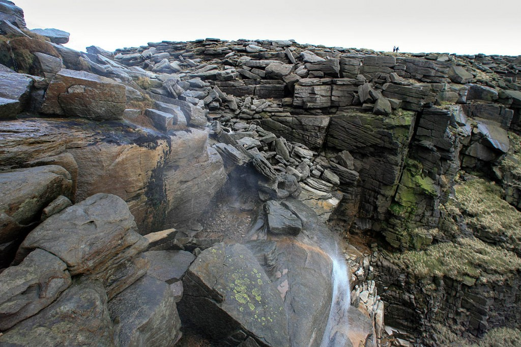 The incident happened at the Kinder Downfall waterfall