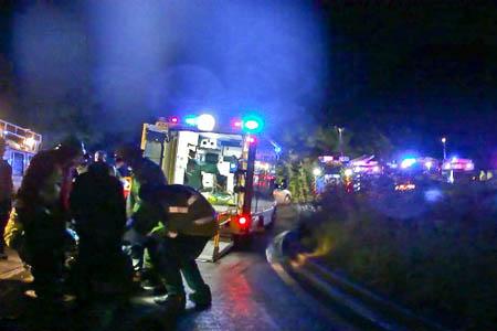 The rescue scene at the crash site. Photo: Kinder MRT