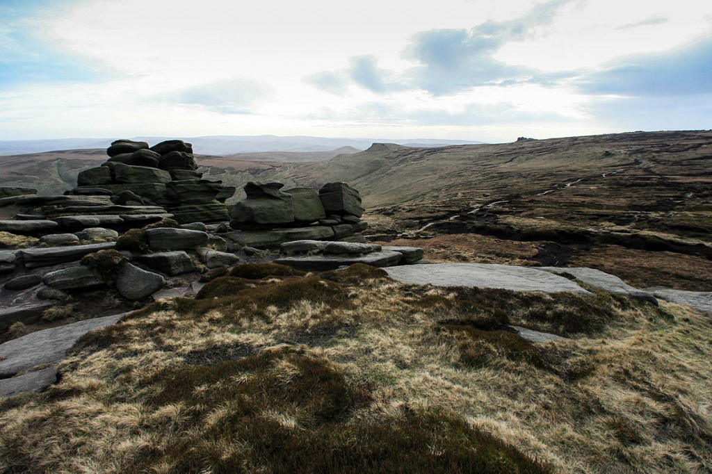 Kinder Scout, the highest plateau in the Peak District