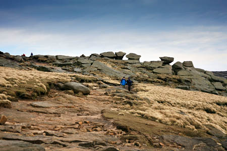 Walkers now enjoy access the summit plateau of Kinder Scout