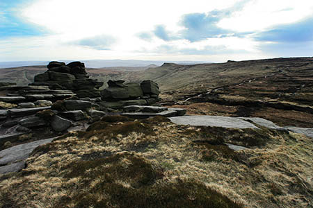 The walkers were lost on the summit plateau of Kinder Scout