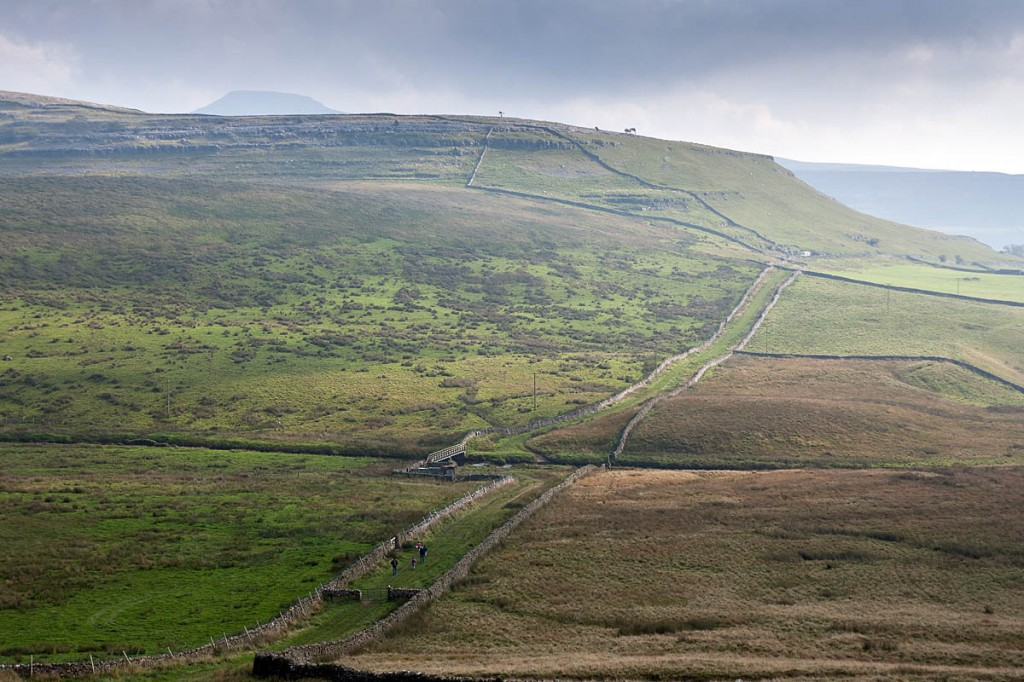 The walker was on the track leading from Kingsdale to Scar End