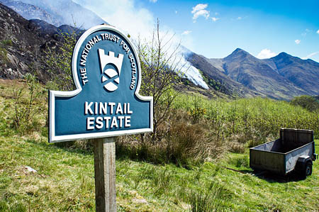 The Kintail mountains were badly hit by fire