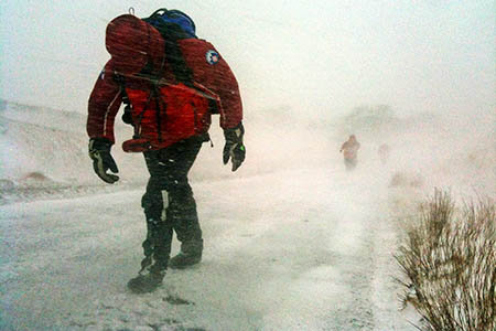 There was no let-up in winter conditions as Easter approached. Photo: Kirkby Stephen MRT