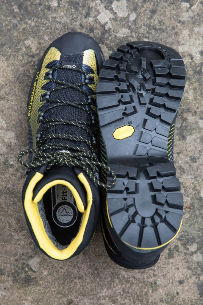 La Sportiva Trango TRK GTX uppers and sole. Photo: Bob Smith/grough