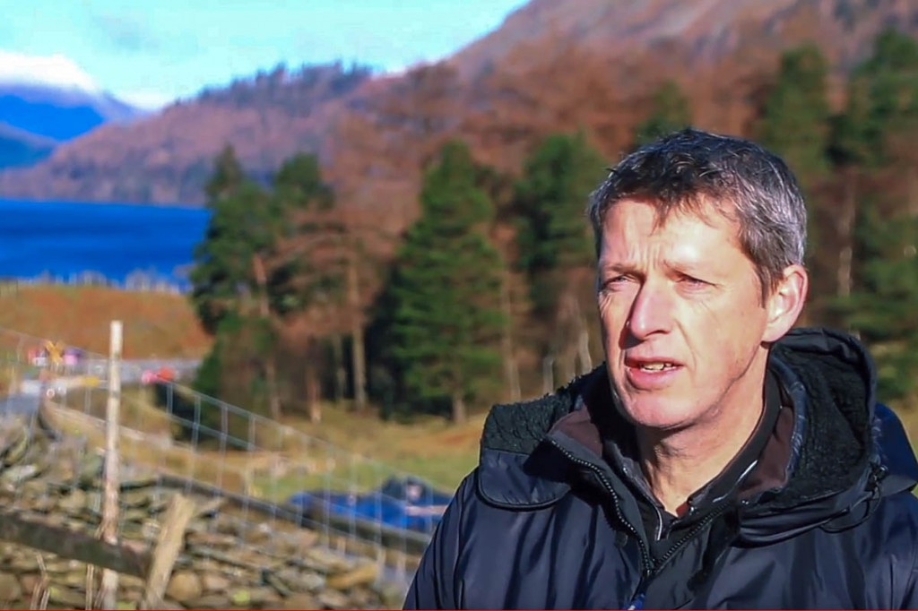 Lake District area ranger Graham Standring at the site near Wythburn. Image: Lake District NPA