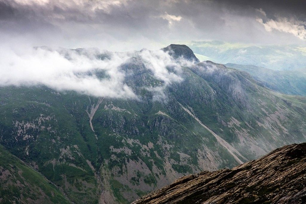 The climber fell while on a crag on the Langdale Pikes