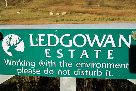 A sign on the Ledgowan estate. Photo: Richard Webb CC-BY-SA-2.0