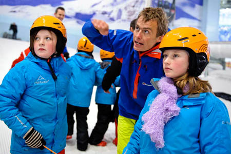 Leo Houlding works with pupils from the Adventure Learning Schools