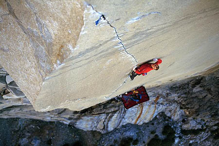 Leo Houlding on The Prophet. Photo: © Posing Productions