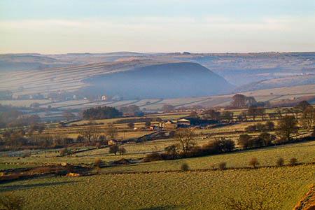Leys Lane makes its way uphill from Great Longstone. Photo: Roger May CC-BY-SA-2.0