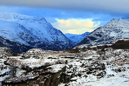 The Llanberis Pass is the starting point for many routes in Snowdonia. Photo: Richard0 CC-BY-2.0