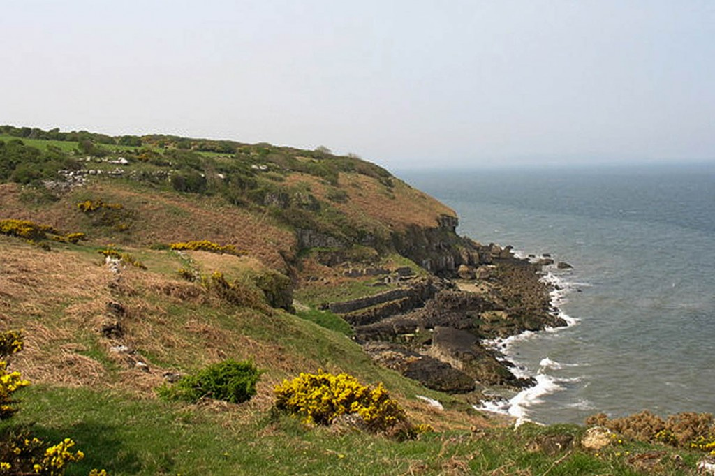 The new path hugs the coast near Llangoed on Anglesey. Photo: Eric Jones CC-BY-SA-2.0
