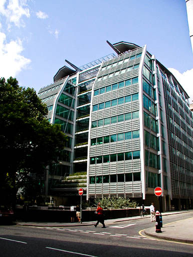 The London headquarters of the Lloyds Banking Group
