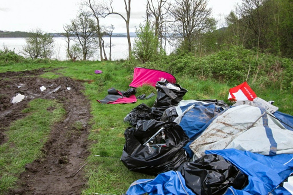 A site on the west shore of Loch Lomond where a large amount of rubbis was left. Photo: Loch Lomond and the Trossachs NPA