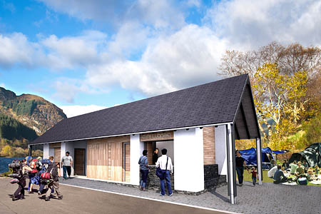 An impression of the proposed Loch Lubnaig centre. Image: Loch Lomond and the Trossachs NPA
