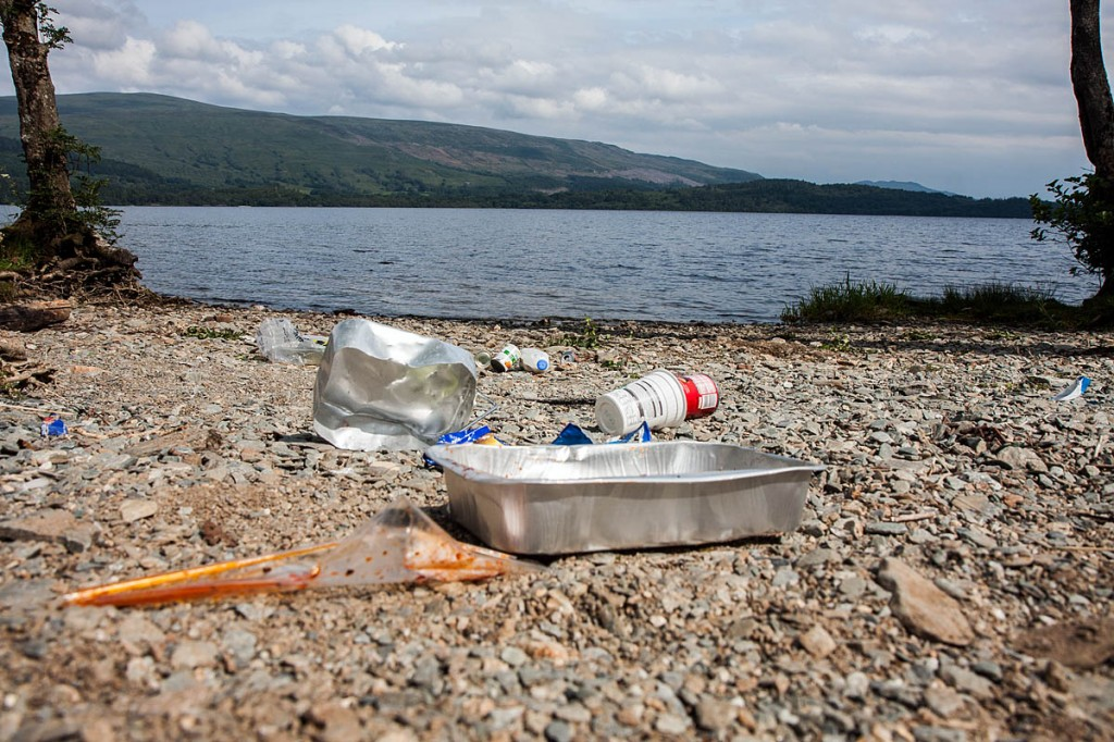 Rubbish is a plague for Loch Lomond's shores
