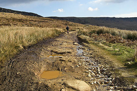 Campaigners say tracks such as Long Causeway at Stanage are being damaged by off-roaders. Photo: Michael Ely CC-BY-SA-2.0