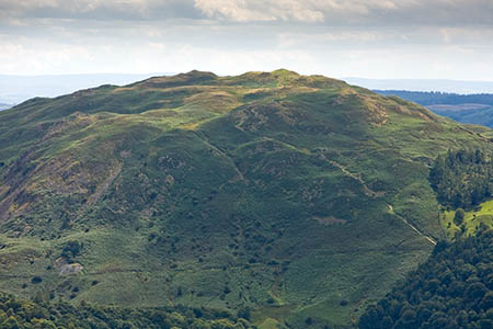 The walker slipped near the summit of Loughrigg
