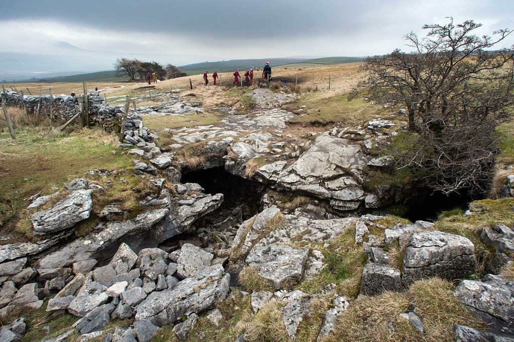 The girl was in Lower Long Churn Cave in Ribblesdale