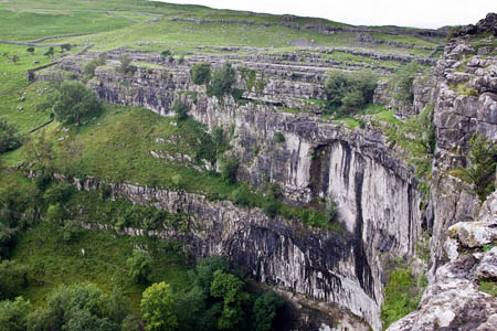 A walker was injured close to the top of Malham Cove
