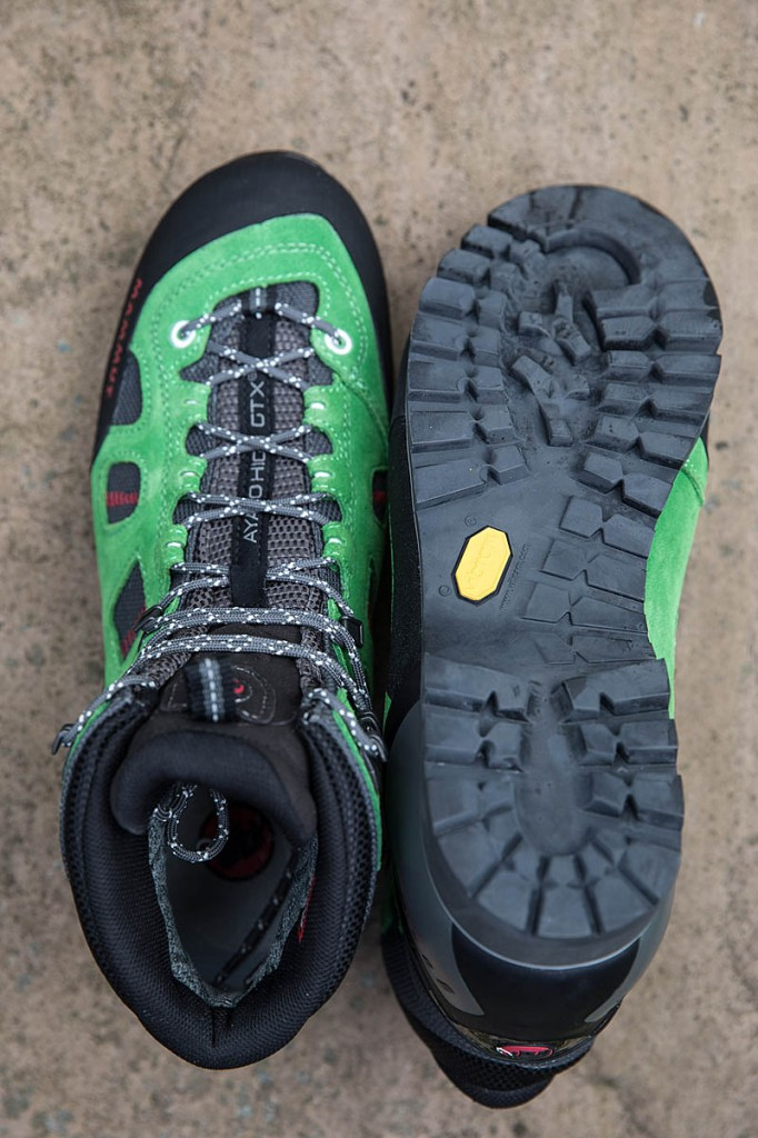 Mammut Ayako High GTX uppers and sole. Photo: Bob Smith/grough