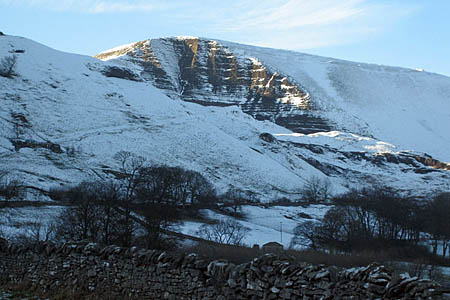The man was stuck in high winds on Mam Tor's summit. Photo: Roger Temple CC-BY-SA-2.0