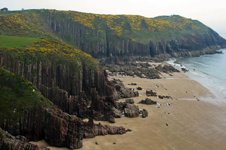 Manorbier on the Pembrokeshire Coast. Photo: David Purchase CC-BY-SA-2.0
