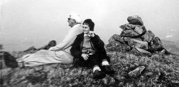 Mark Richards's 1973 photo of Wainwright and his second wife Betty