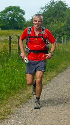 Matt on the route near Ennerdale Bridge in the Lake District