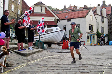 Matt Neale approaches the end of his run at Robin Hood's Bay