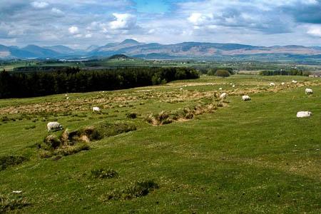 The site near Merkins Farm, south of Loch Lomond. Photo: Lairich Rig CC-BY-SA-2.0