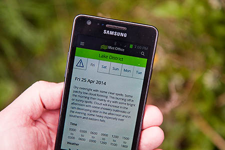 Met Office mountain forecasts are now available in simplified mobile versions