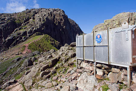 The walkers were found in the Mickledore stretcher box between Scafell Pike and Scafell
