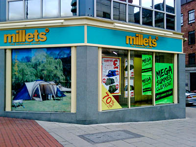 Millets branches were among Blacks assets acquired by JD Sports