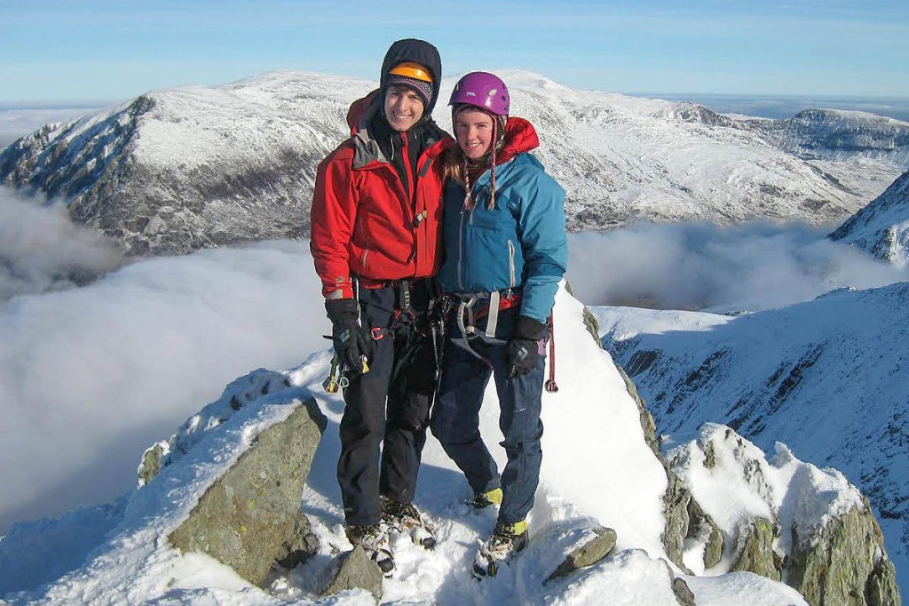 Rachel Slater and Tim Newton were on a Valentine's Day climbing trip