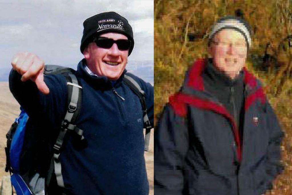 Geoffrey Stewart, left, and George Crosbie
