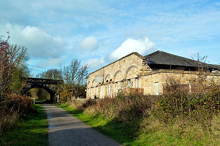 The route will be closed near Hassop Station on the Monsal Trail. Photo: Graham Hogg CC-BY-SA-2.0