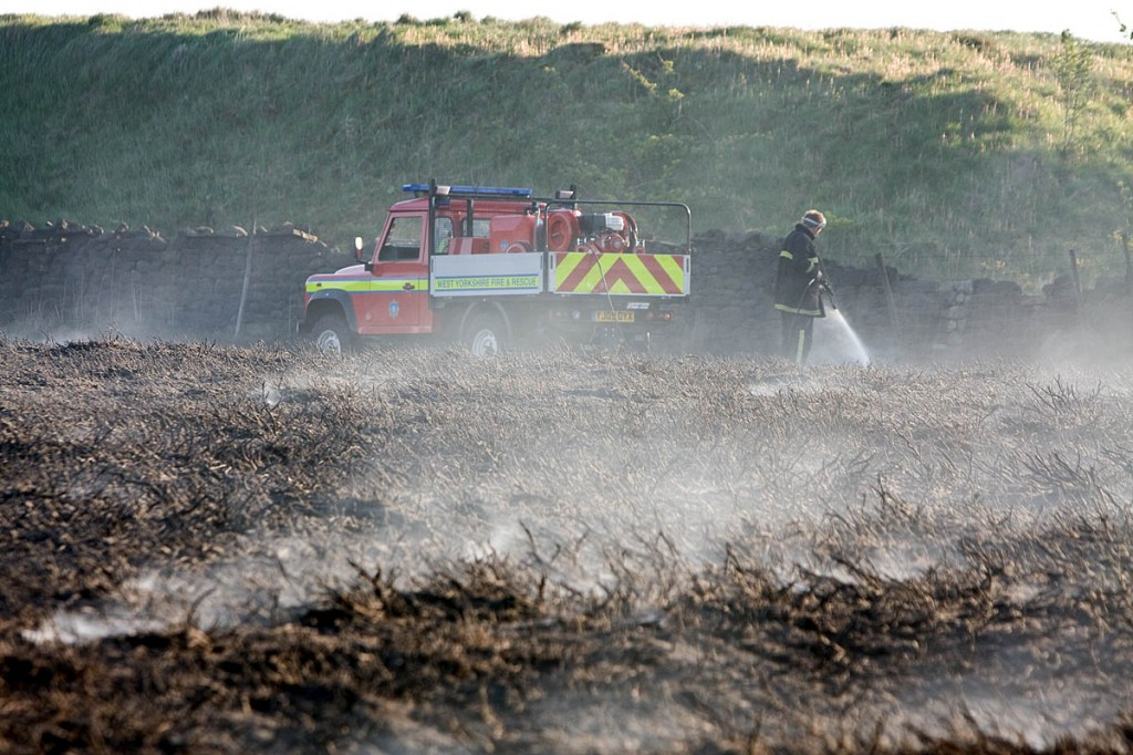 Moorland fires can be dangerous and devastating to wildlife. Photo: Bob Smith/grough