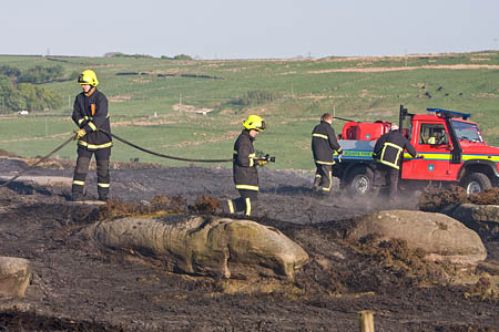 Moorland fires are now a high priority for firefighters