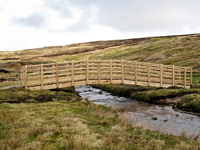 The completed bridge over Mossdale Beck. Photo: Yorkshire Dales National Park Authority