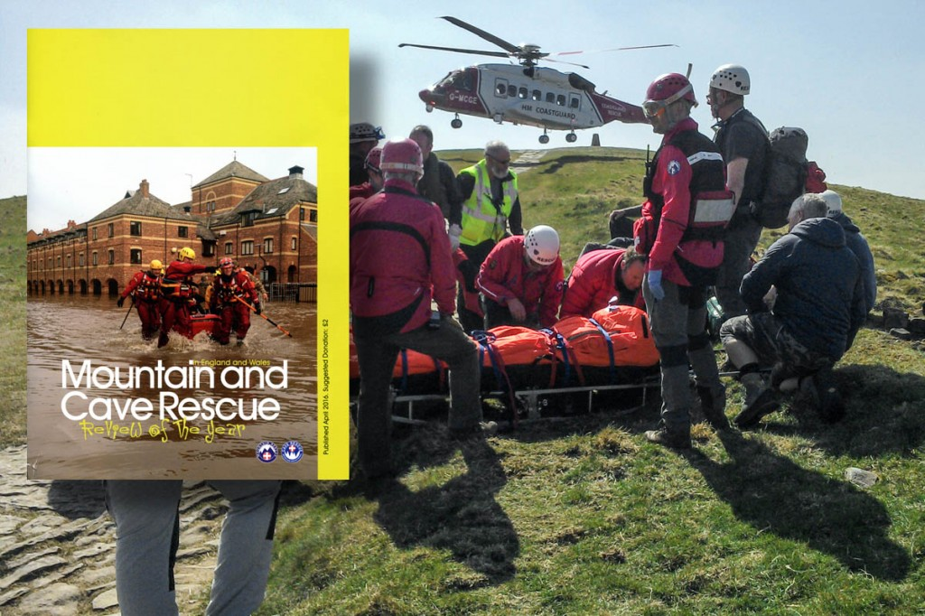 The review looks back at a busy 2015 for rescuers. Main photo: Edale MRT