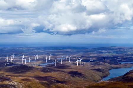 An impression of how the Muaitheabhal windfarm will look