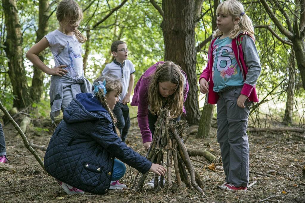 Children enjoy a discovery visit to the Peak District. Photo: Peak District NPA