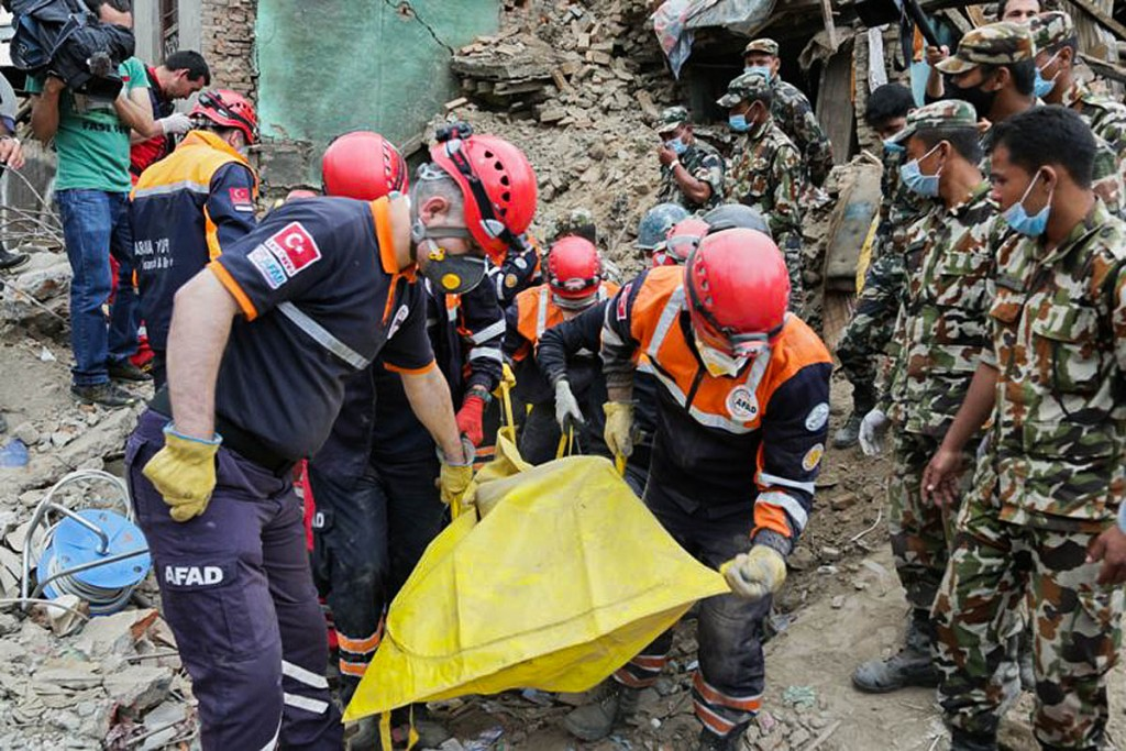 Rescue operations in Nepal following the earthquake. Photo: Hilmi Hacologlu