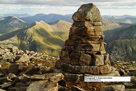 The Coire Leis cairn on Ben Nevis. Photo: Martin McCrorie