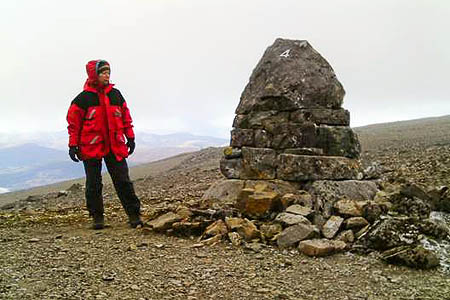 The Number Four Gully cairn