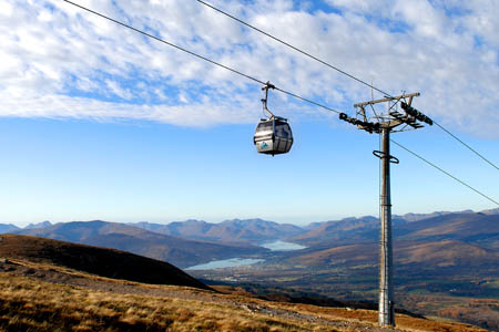 A gondola similar to this one on Aonach Mòr is one possiblity being put forward by Dave Morris. Photo: Andy Gray